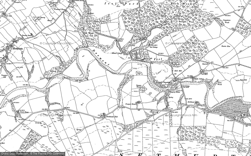 Old Map of Historic Map covering Linskeldfield in 1898