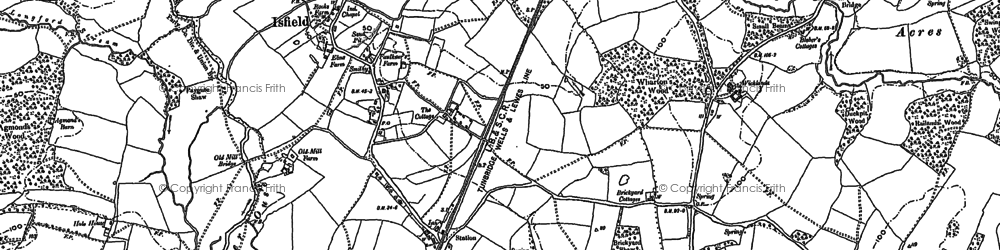 Old map of Lavender Line in 1898
