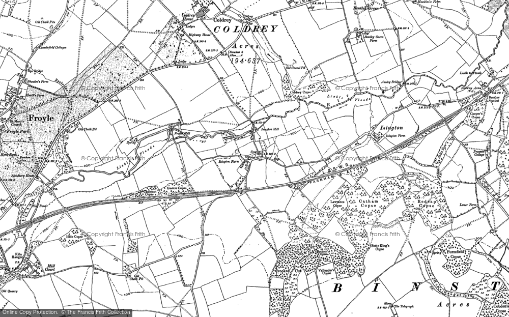 Old Map of Isington, 1909 in 1909