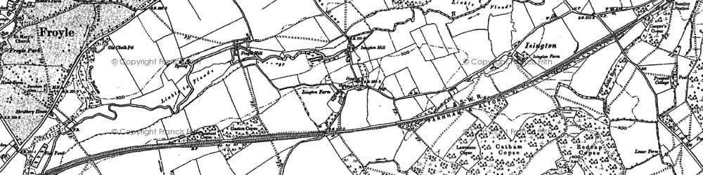 Old map of Isington in 1909