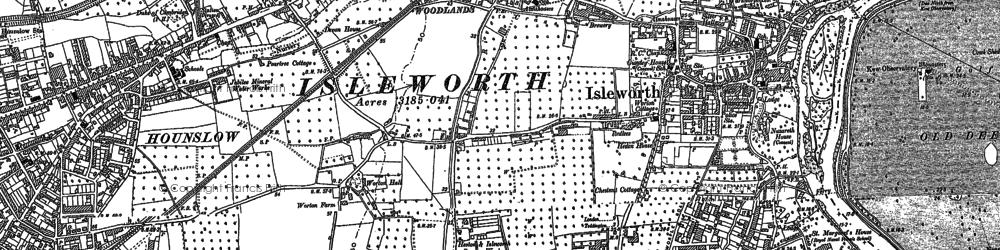 Old map of Brentford End in 1894