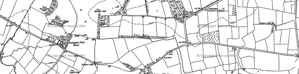 Old map of Ambro Hill in 1899
