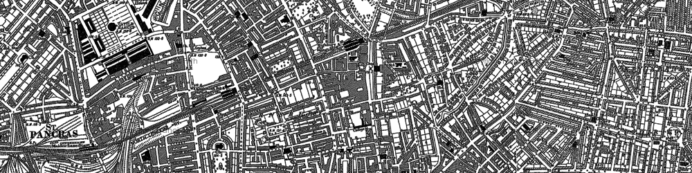 Old map of Islington in 1894