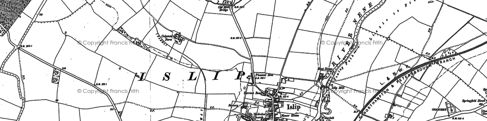Old map of Islip in 1884