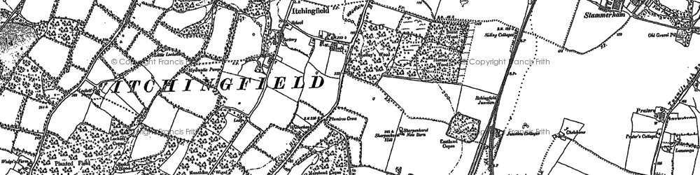 Old map of Toat Hill in 1896