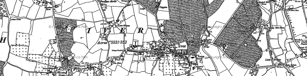Old map of White Lo in 1897