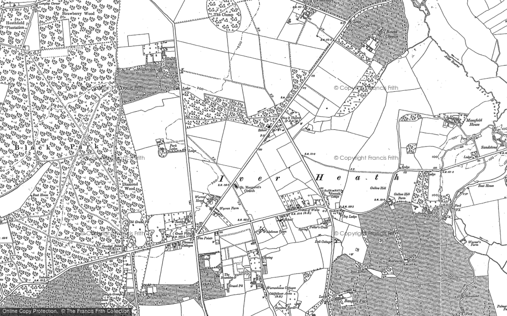 Old Map of Historic Map covering Alder Bourne in 1897