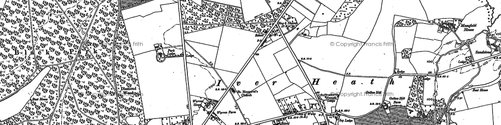 Old map of Alder Bourne in 1897