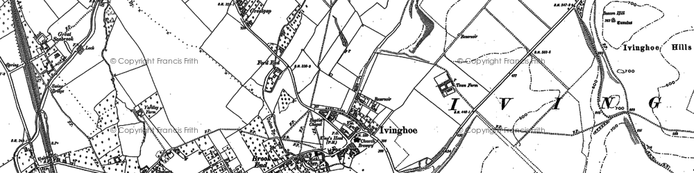 Old map of Whistle Brook in 1898