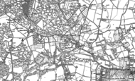 Old Map of Ivy Hatch, 1869 - 1895