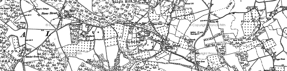 Old map of Ivy Hatch in 1869