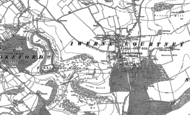 Old Map of Iwerne Courtney, 1886