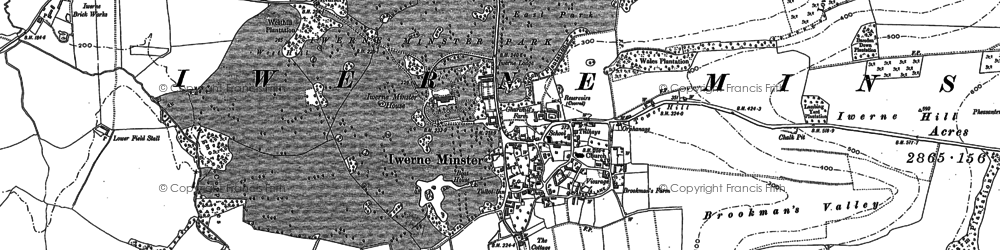 Old map of Bareden Down in 1886