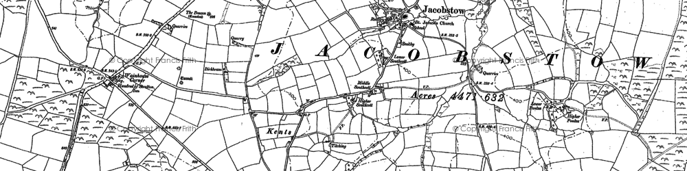 Old map of Allins in 1905