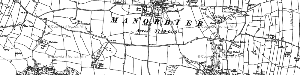 Old map of Jameston in 1906