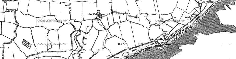 Old map of Jaywick in 1896