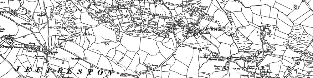 Old map of Lanesend in 1906