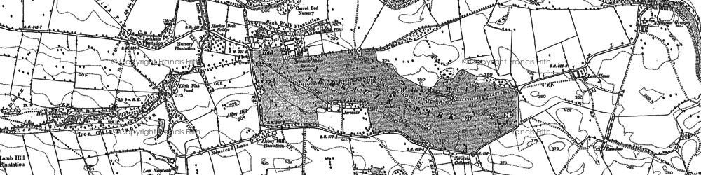 Old map of Abbey Hill in 1891