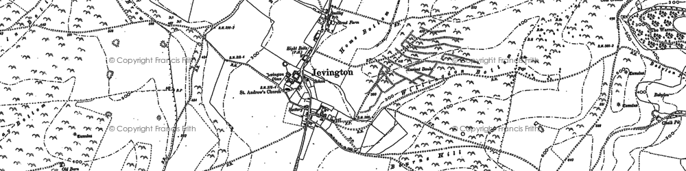 Old map of Willingdon Hill in 1908