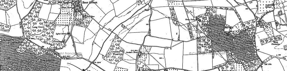 Old map of Butlers Cross in 1897