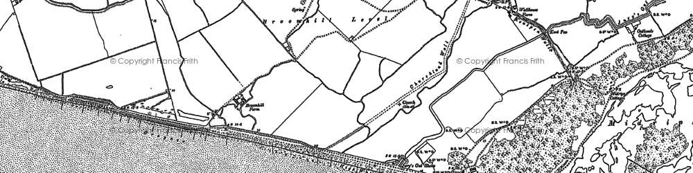 Old map of Wicks, The in 1908