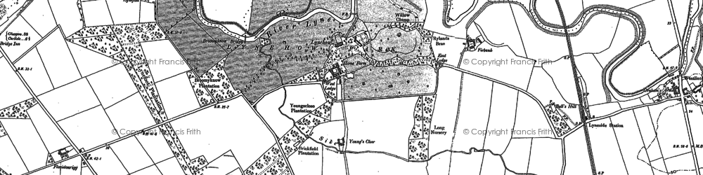 Old map of Young's Close in 1899