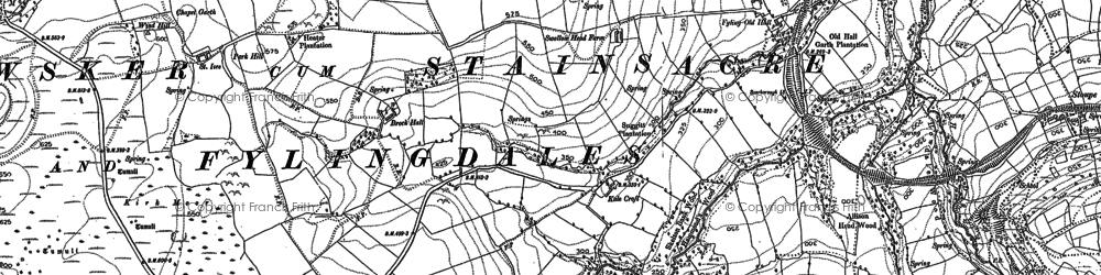 Old map of Wragby Wood in 1891