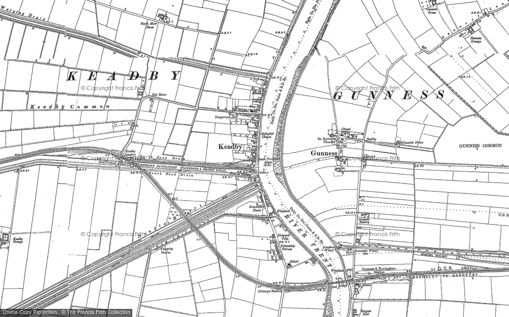 Map of Keadby, 1885 - 1906