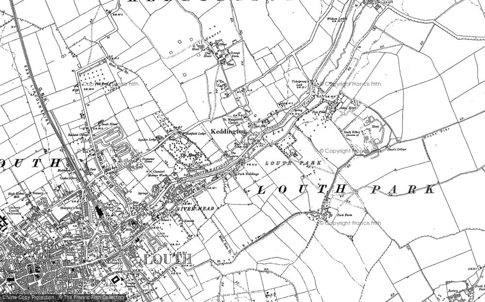Old Map of Keddington, 1886 - 1888 in 1886