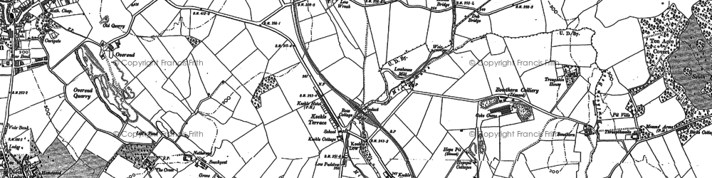 Old map of Wreah in 1923
