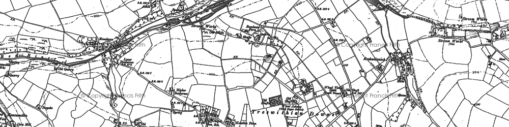 Old map of Kehelland in 1877
