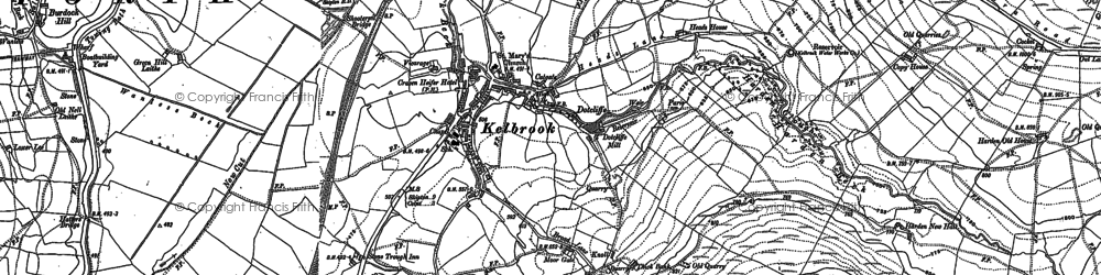 Old map of Kelbrook in 1906