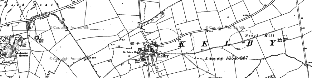 Old map of Wilsford Heath in 1887