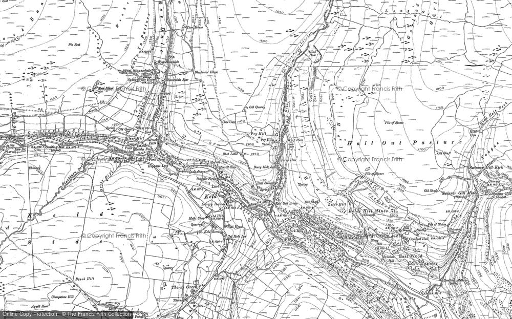 Old Map of Keld, 1891 - 1950 in 1891