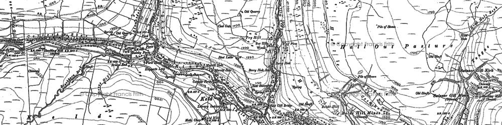 Old map of Keld in 1891