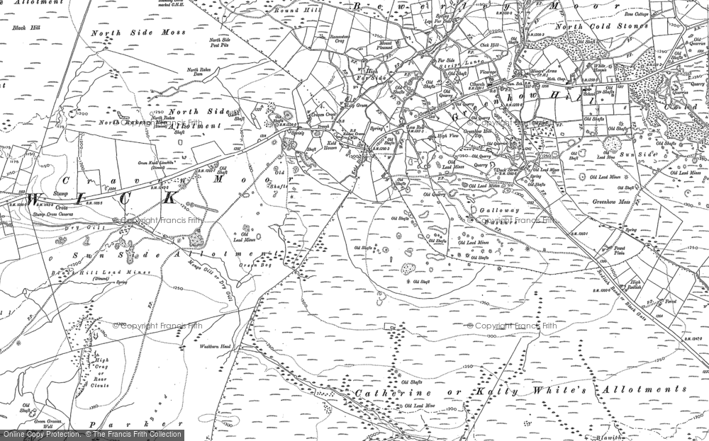 Old Map of Historic Map covering Lily Green in 1907