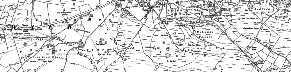 Old map of Lily Green in 1907