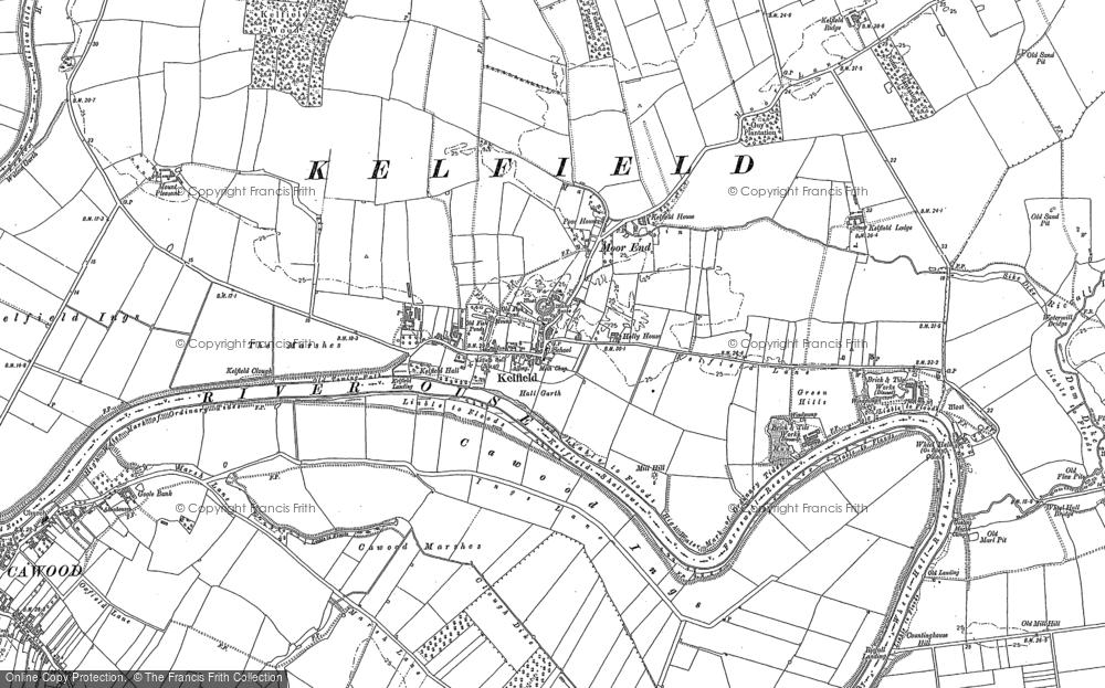 Old Map of Kelfield, 1889 - 1890 in 1889