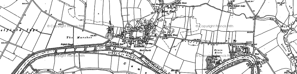 Old map of Wheel Hall in 1889