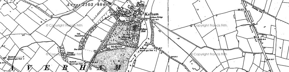 Old map of Kelham in 1884