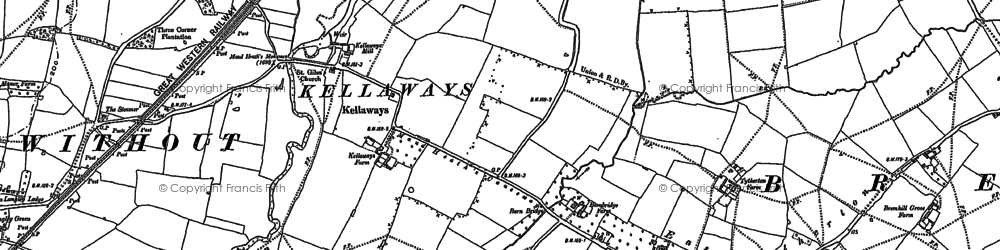 Old map of Kellaways in 1899