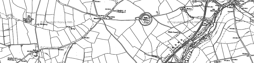 Old map of Kelly in 1880