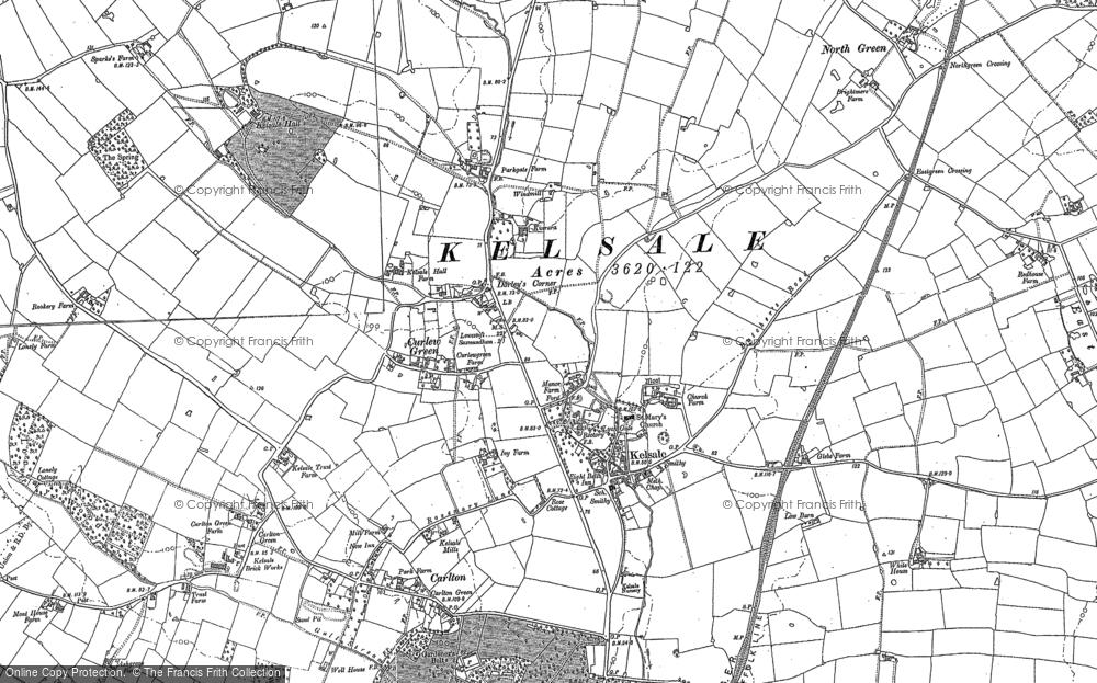 Map of Kelsale, 1882 - 1883