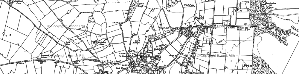 Old map of Yeld, The in 1897