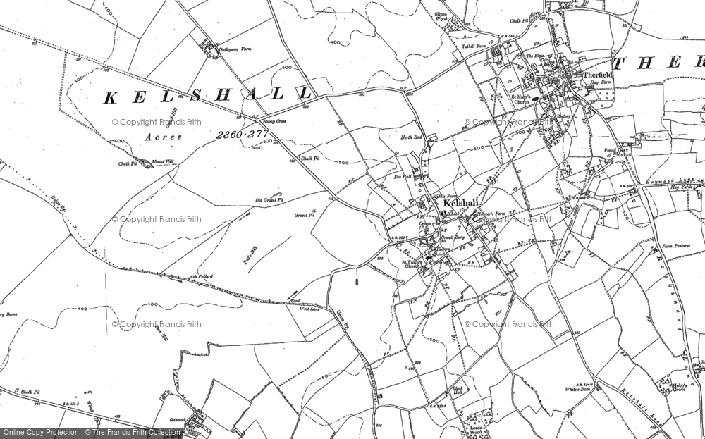 Old Map of Historic Map covering Woodcotes in 1896