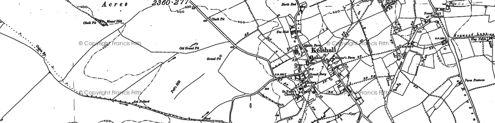 Old map of Woodcotes in 1896
