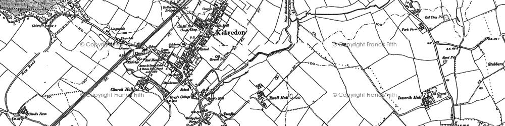 Old map of Kelvedon in 1895
