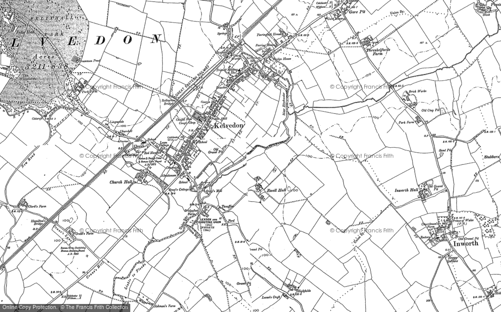 Old Map of Historic Map covering Leapingwells in 1895