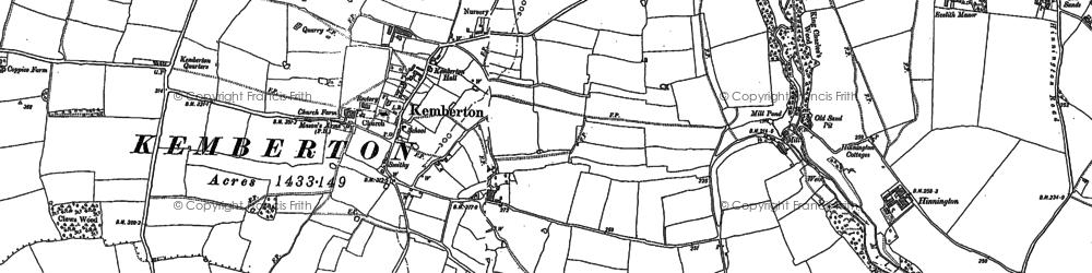 Old map of Kemberton in 1881