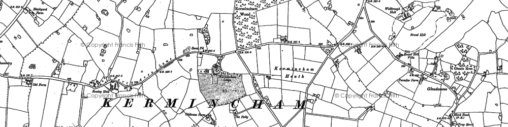 Old map of Twemlow Green in 1897